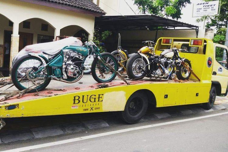 Bikers Gunakan Bugel Towing untuk Angkut Moge