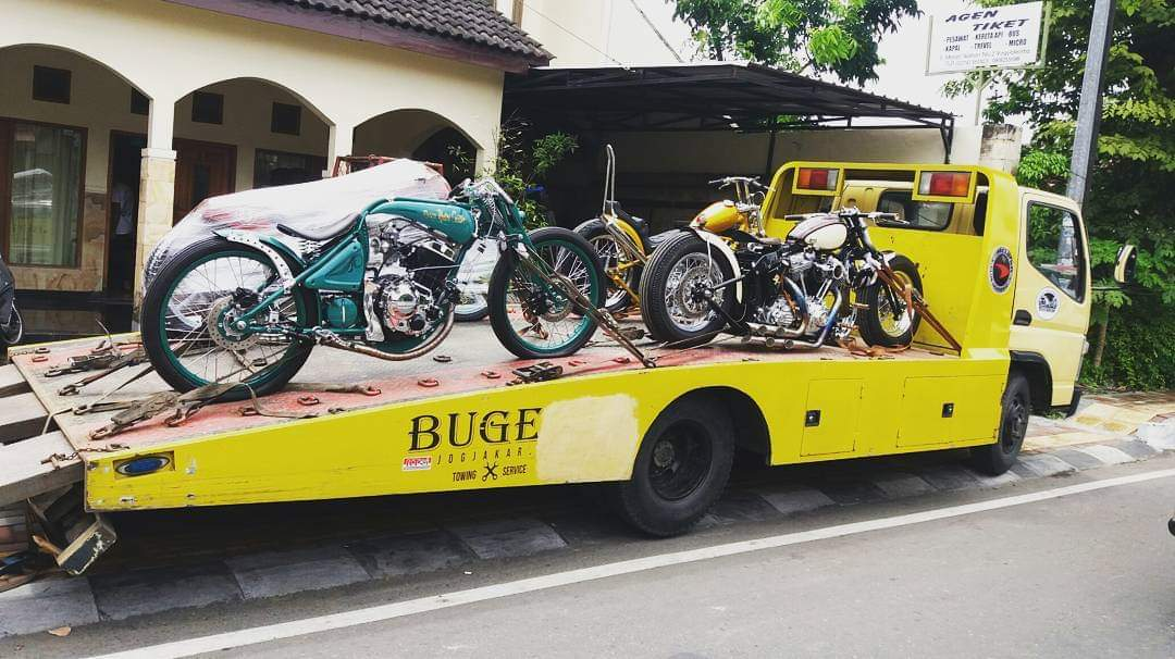 angkutan moge,pengiriman moge,jasa pengiriman motor,bugel towing,mobil derek